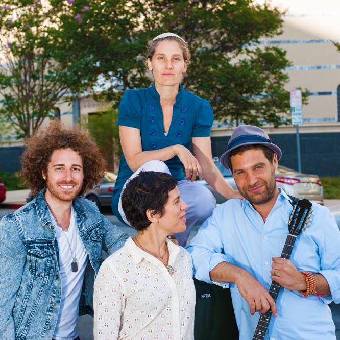 Rabbi Susan Goldberg with musicians.
