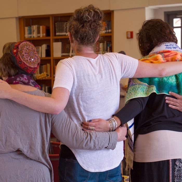 People hugging.